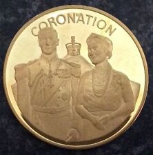 QUEEN MOTHER SOLID COPPER COMMEMORATIVE CROWN SIZE COIN 1900-80.CORONATION..