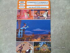 CARTE FICHE CINEMA 2009 LA PRINCESSE ET LA GRENOUILLE Disney