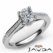 Shiny Cushion Diamond Engagement Channel Set Ring GIA G VS2 18k White Gold 0.7Ct