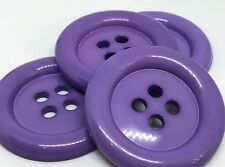 4 GIANT LILAC 50mm LARGE PLASTIC CLOWN BUTTONS SEWING AND FANCY DRESS