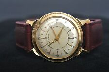 RARE HAMILTON 735 18Js 24 HR DIAL STORM KING IV MILITARY GOLD FILLED WRISTWATCH