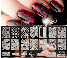 BORN PRETTY Nail Art Stamp Plate Lace Flower Pattern Image Template BP-L020