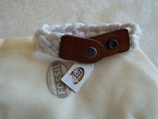 Fossil Braided Sailor Bracelet Leather & White Rope NEW fossil cloth bag BNWT