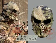 HLand Outdoor Cosply War Game Airsoft Paintball Eye Protect FullFace Skull Mask