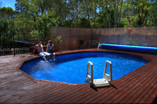 ABOVE GROUND SWIMMING POOL PACKAGE 4.9mx3.6mx1.32 CHLORINE AUST MADE-FREE COVER
