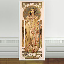 "Stunning Alphonse Mucha Moet Champagne Imperial CANVAS PRINT 24""X10"" Art Nouveau"