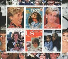 A TRIBUTE TO PRINCESS DIANA 1961-1997 TURKMENISTAN MNH STAMP SHEETLET