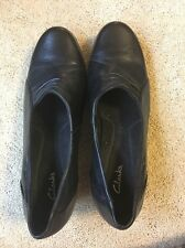 Womens Clarks Sz12w Black Casual