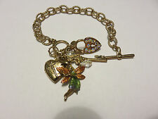 KIRKS FOLLY GOLD FAIRY LOCKET BRACELET NWOT