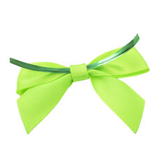 x100 Green Twist Tie Bows 4 inch st patricks day cake pop decoration fasteners