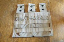 (2) M4 3 Mag Side x Side Pouches Desert camo