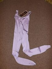 NOS NIP Vtg 1980s Shiny Lavendar BODY CHROME STIRRUP LEOTARD UNITARD Womens S