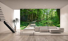 GREEN SPRING FOREST Wall Mural Photo Wallpaper GIANT DECOR Paper Poster