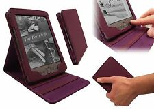 Amazon Kindle 4 LUSSO LUXFOLIO PU Pelle DUAL FLIP STAND CUSTODIA COVER-Viola