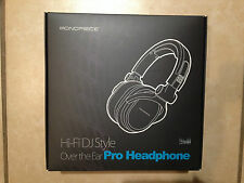 Premium Hi-Fi DJ Style Over-the-Ear Pro Headphone Monoprice NIB