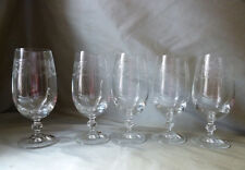 5 Pall Mall antique style Bohemia Crystal etched cider or beer glasses, VGC