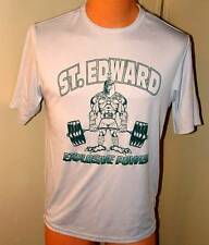 St Edwards High School lifting Lycra stretch T shirt grey med  large