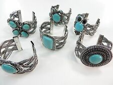 [US SELLER] 10pcs wholesale jewelry lot vintage inspired turquoise bangle