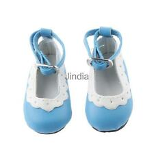 Cute 6.2cm Round Toe Mary Janes Ankle Strap Shoes for 1/4 BJD Dolls Blue