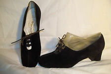 BALLY VASANO Vintage Black Suede FIESTA MARAN Lace Up Oxford Shoes  MOD 5 E