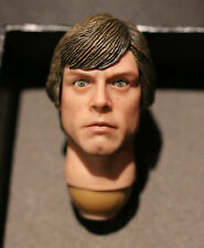 Custom ! Luke Skywalker jedi movable eyes 2.0 Star Wars 1/6 head