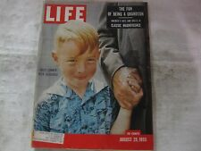 Life Magazine August 29th 1955 Billy Conner With Granddad Publisher Time   mg557