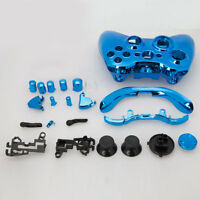Plating Blue Wireless Controller Case Shell Cover + Buttons for Xbox 360 Xbox360