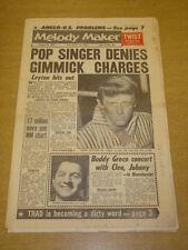 MELODY MAKER 1962 JANUARY 6 JOHN LEYTON TWIST BUDDY GRECO FRANK SINATRA +