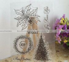 Silicone Transparent Clear Rubber Stamp Christmas Tree Scrapbooking DIY S2