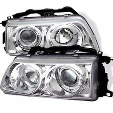 1988-1989 Honda CRX & Civic Clear Projector Halo Angel Eye Headlights Pair RH LH