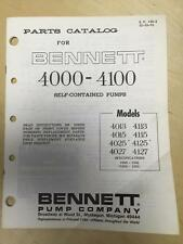 Bennett Parts Catalog Manual 4013 4113 4015 4115 4025 4125 4027 4127 Gas Pumps b
