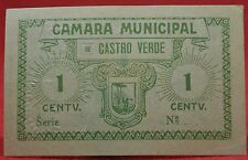 Portugal - Cedula of 1 cents ESCASSA of the district of BEJA (C. M. de Castro V