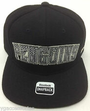 NHL Pittsburgh Penguins Reebok Structured Snap Back Cap Hat Style# NJ97Z NEW!