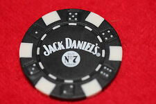 2 JACK DANIELS WHISKEY BLACK POKER CHIPS OLD NO. 7 GOLF BALL MARKER FREE SHIPNG!