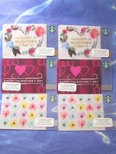 New for Sales - Starbucks Card  VALENTINE'S DAY  ( total 6 cards ) 3 Style