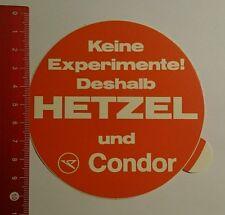 ADESIVI/Sticker: non esperimenti pertanto Hetzel e Condor (070816163)