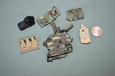 "1:6 Modern US Army Bullet Pouches Gear (Lot of 6) for 12"" Action Figures C-137"