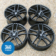 "GENUINE MASERATI GRANTURISMO GRANCABRIO 20"" STRADALE BLACK ALLOY WHEELS SPORT MC"