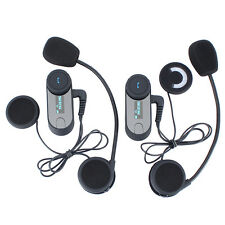 2pcs BT 800M Moto Intercomunicador Bluetooth Auriculares Interphone Interfono FM
