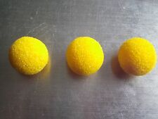 3 SUBBUTEO HIGH BOUNCE YELLOW SPONGE FOOTBALL BALLS C191 *GOOD CONDITION*