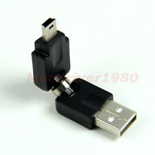 USB 2.0 Male to Mini 5 Pin Male M/M Black Adapter Converter Connector Angle 360°