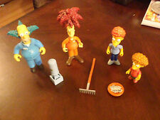 Simpsons Playmates Series 9, Four Figures and Accessories 2001