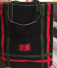 SHOPPER BORSA SMALL BAG ROBERTA DI CAMERINO VINTAGE BLUE RED GREEN VELVET VELLUTO