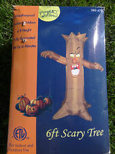 Airblown Inflatable Halloween 6' Spooky Scary Haunted House Tree Light Blow Up