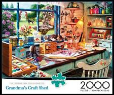 BUFFALO GAMES JIGSAW PUZZLE GRANDMA'S CRAFT SHED STEVE READ 2000 PCS #2030