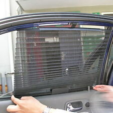 Retractable Car Side Window Sunshade Curtain Shade Windshield Mesh Shield Visor