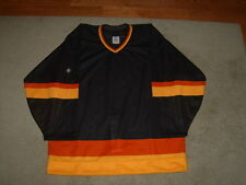 AUTHENTIC PRO CCM 1980S VANCOUVER CANUCKS STYLE BLANK BLACK JERSEY, 48, NEELY