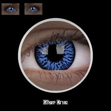 MAX UV glow blau DRAX lentille de couleur blue lens contact halloween