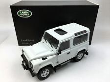 Kyosho 1:18 Land Rover Defender 90 Short Wheel Fuji White Die-Cast Metal Model