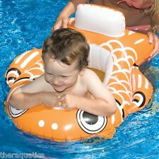 """32"""" Inflatable Guppy BABY Seat Swimming pool FLOAT learn to swim ORANGE 90252"""